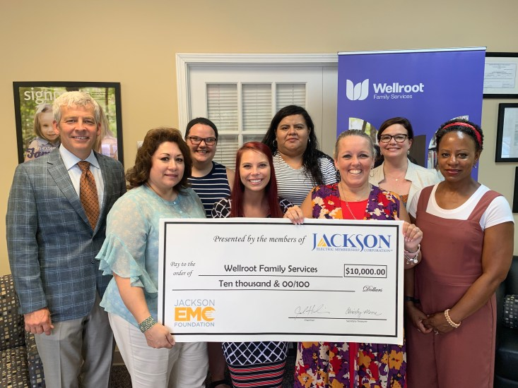Wellroot Family Services Receives Jackson EMC Foundation Grant
