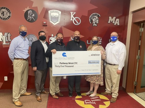 Parkway West Donation Check