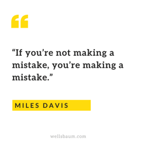 Miles Davis on making mistakes