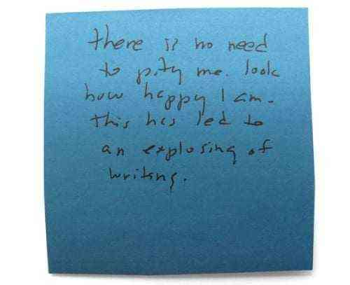Roger Ebert's Post It Notes