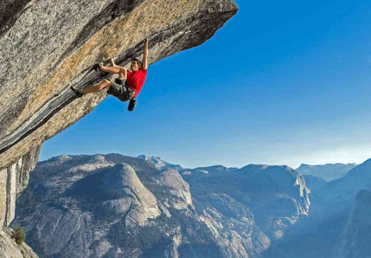 Rock climber Alex Honnold demonstrates how to dance with fear