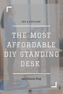 work standing up, standing desk, diy standing desk, work standing desk, productivity desk setup, standing desk adjustable, #productivity #lifehack #workmode
