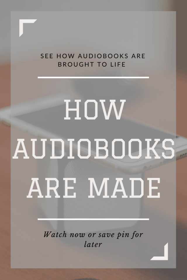 Every wonder how audiobooks are made? Go behind the scenes as one narrator reveals her process on bringing books to life. #books #author #howto #booksfans