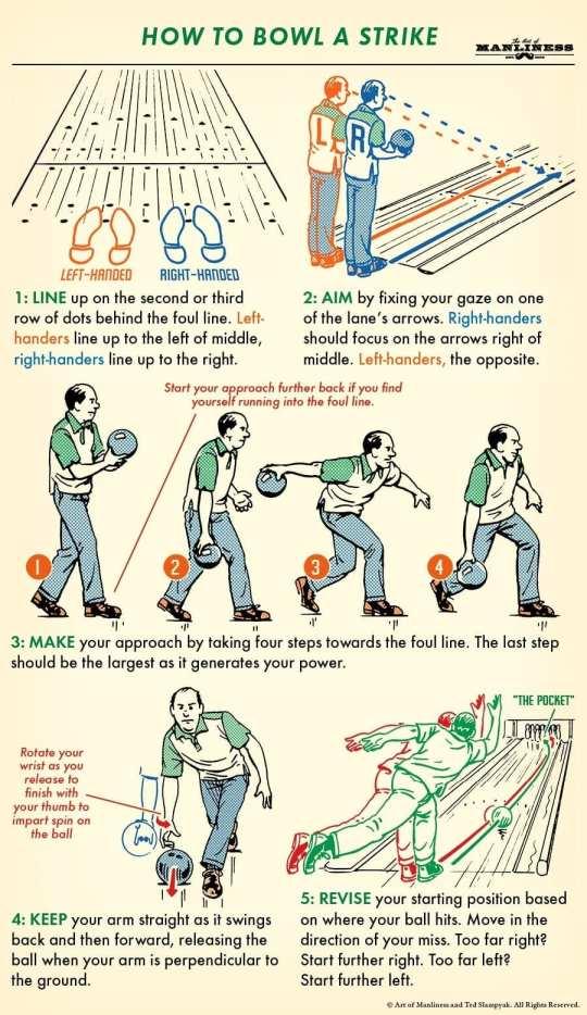 How to bowl a strike 🎳