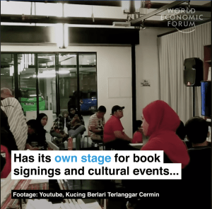 A giant bookshop in Malaysia that never shuts. Watch this!