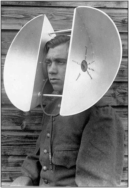 In what looks like elephant ears, this listening device was actually an aircraft detection device before radar was invented in 1935. #history #photography