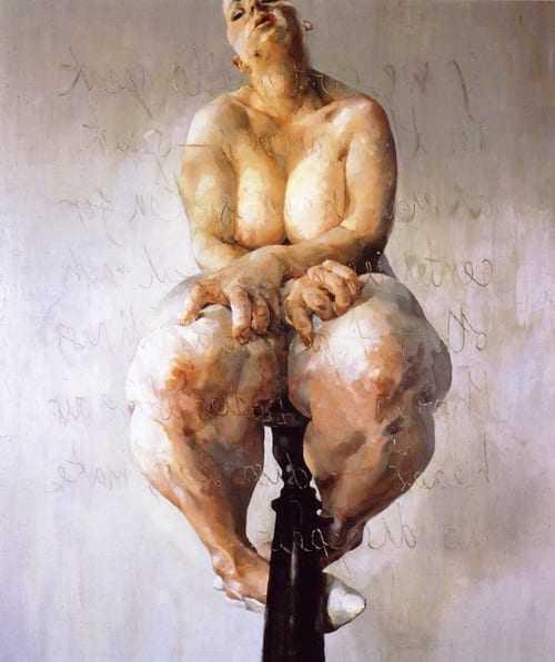 'Propped' by painter Jenny Saville
