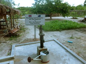 Wells are centrally located in a village, far from other natural water