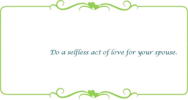 015 selfless act