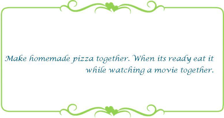 063 Make a homemade pizza together