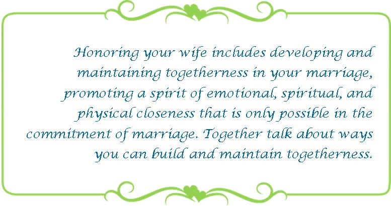 067 honoring your wife