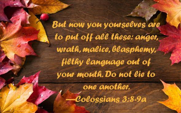 Colossians 3 8-9a