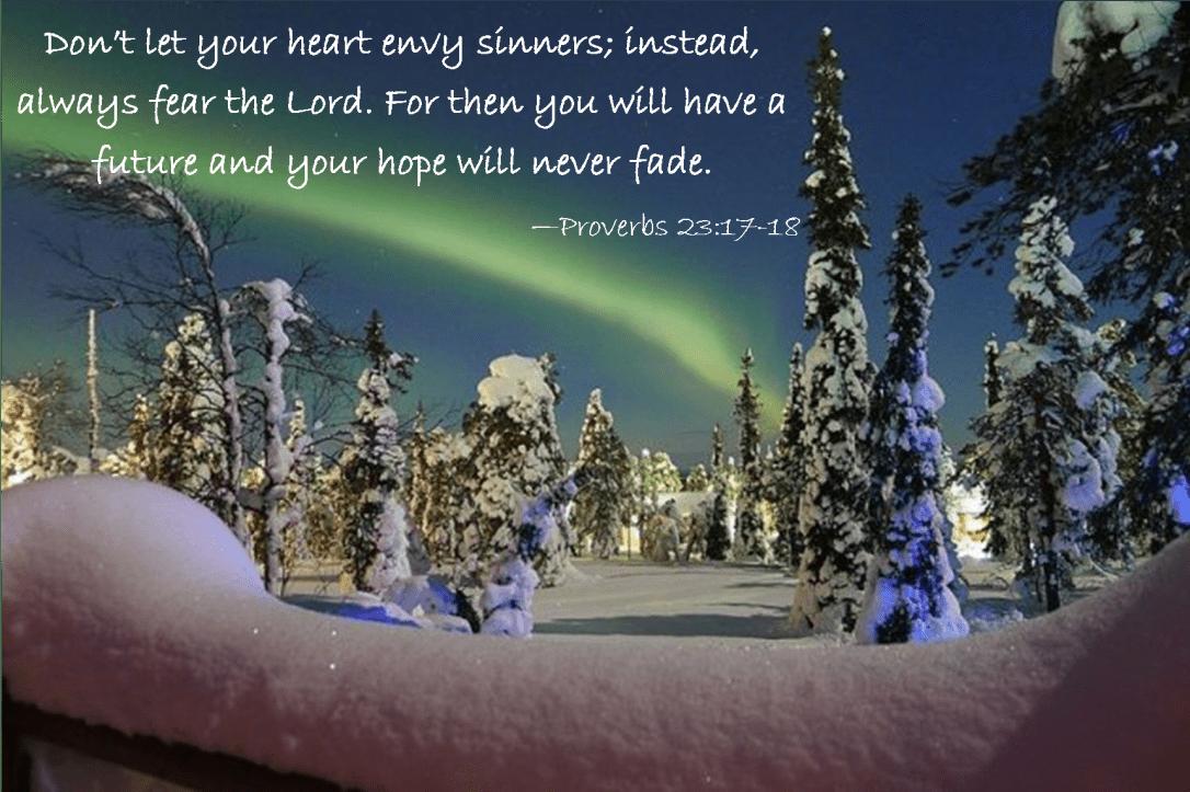 Proverbs 23 17-18