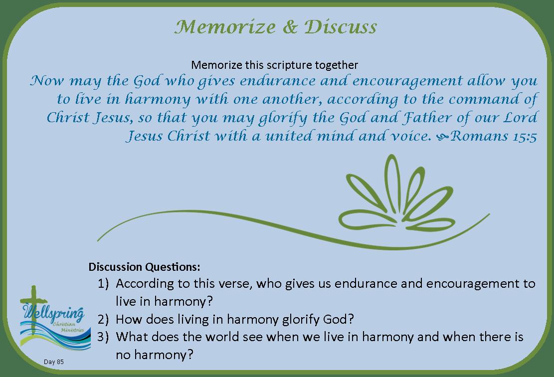 085 Discuss & Memorize
