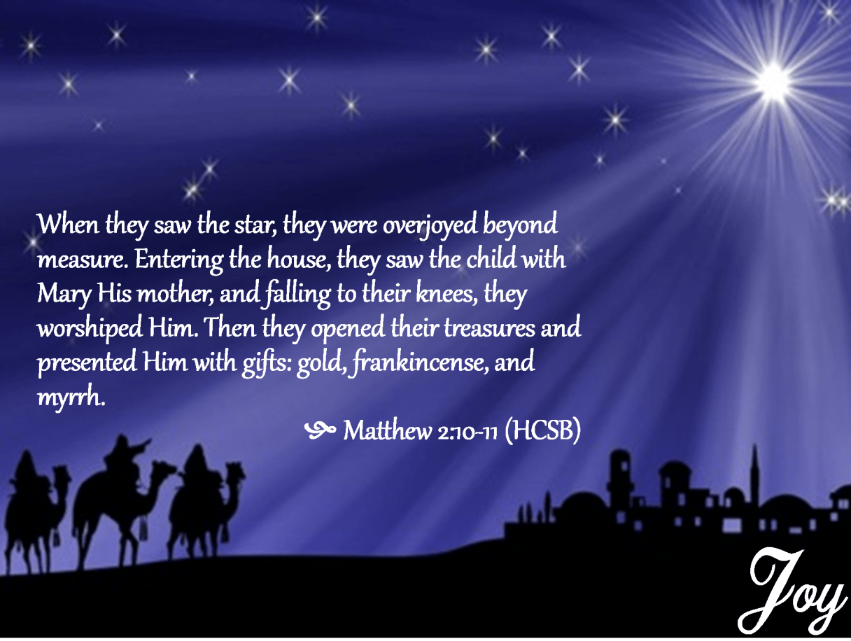3rd Sunday of Advent Joy Matthew 2 10-11