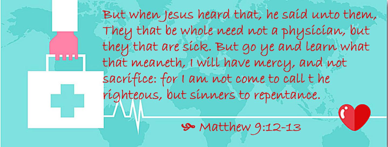 Jan 10 Matthew 9 12-13
