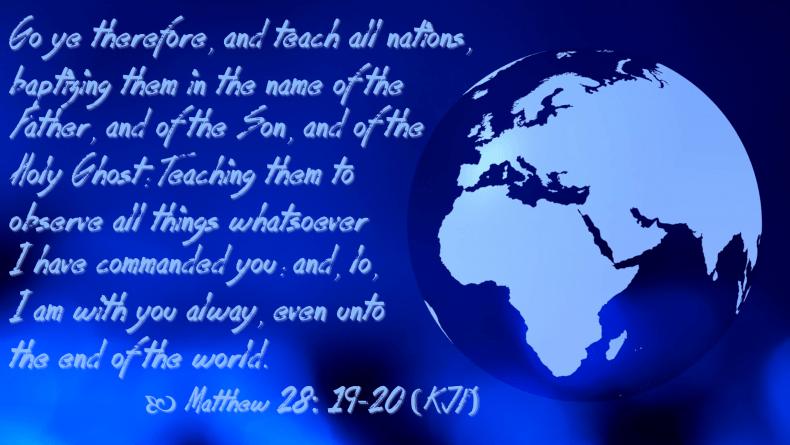 Feb 15 Matthew 28 19-20 KJV