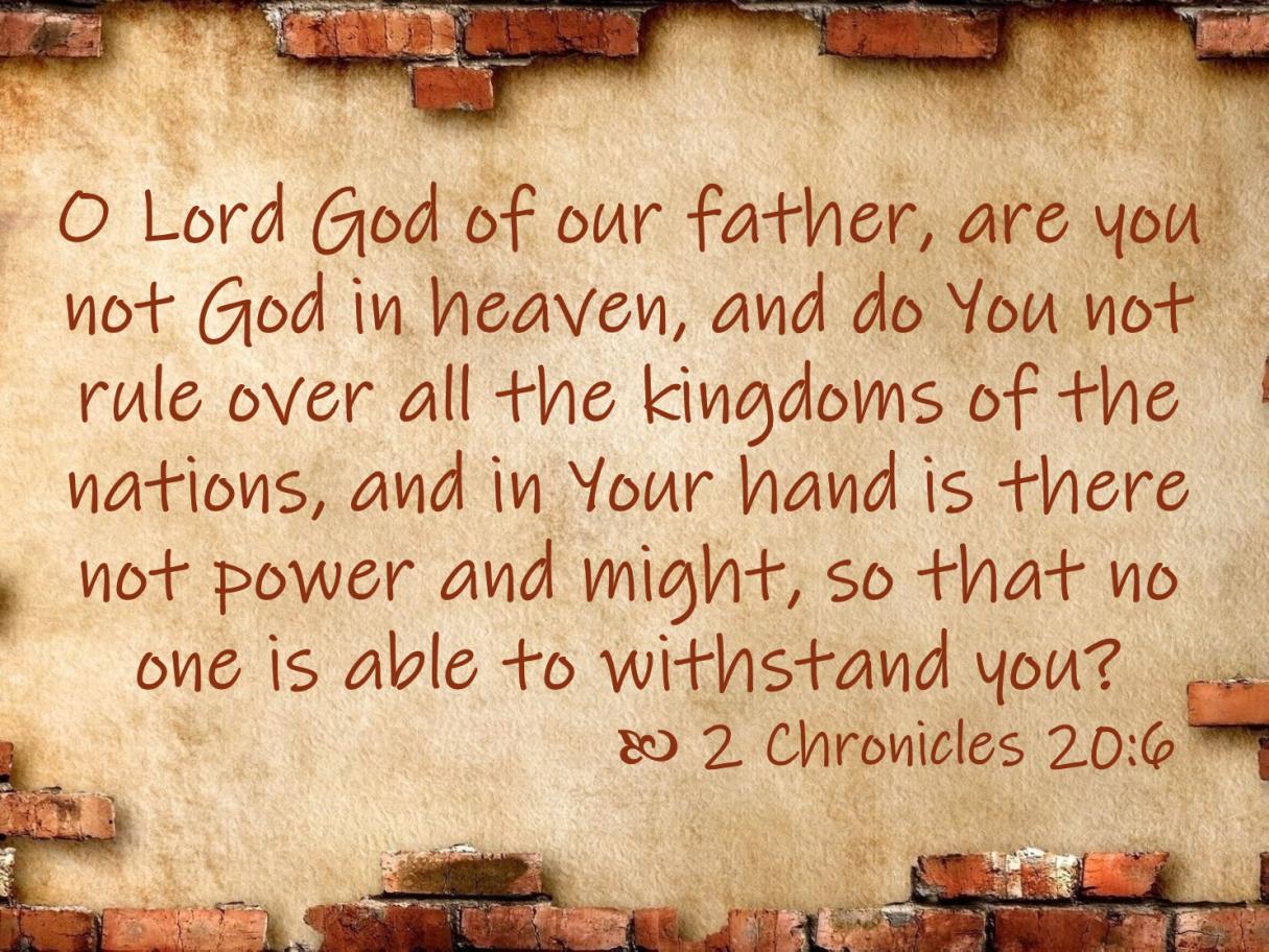 Jun 06 2 Chronicles 20 6