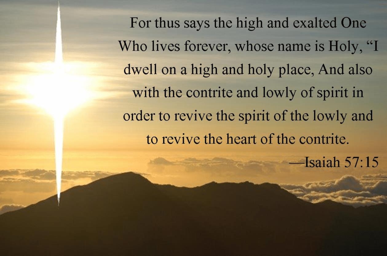 15 Isaiah 57 15