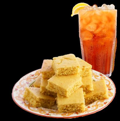 corn bread and sweet tea