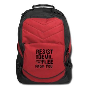 resist the devil backpack