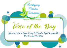 verse of the day logo on self-care post