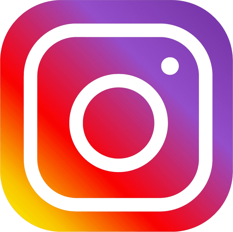 Instagram logo link on self-care post