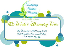 memory verse logo on self-care post