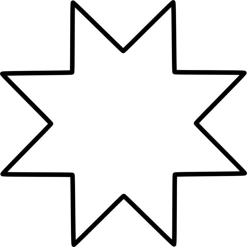 8 pointed star Chrismons pattern