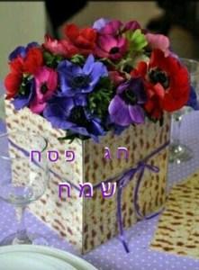 Happy Passover flowers