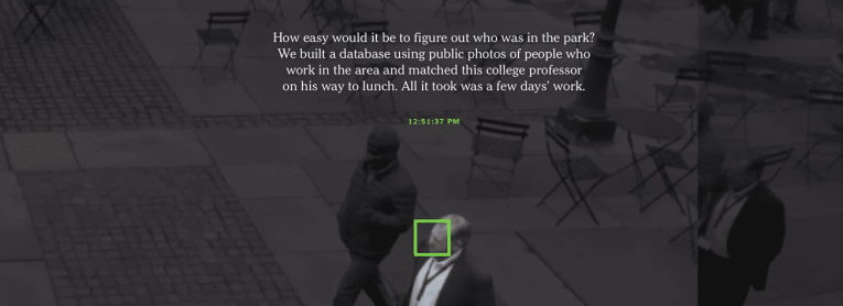 facial recognition privacy tracking new york times