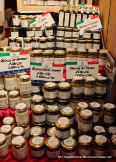 Italian specialties for sale.
