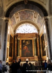 San Luigi dei Francesi: Caravaggio's The Inspiration of St. Matthew)