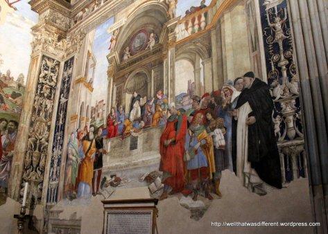 Santa Maria Sopra Minerva: fresco by Filippino Lippi