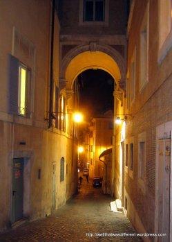 Walking around at night