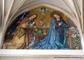19th century mosaic--Annunciation