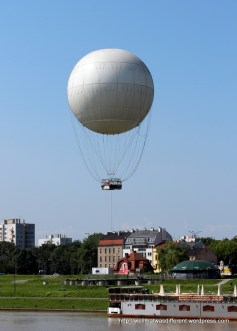 You can go up in a balloon for another view of the city
