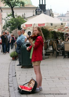 There are lots of street musicians who are, of course, all excellent.