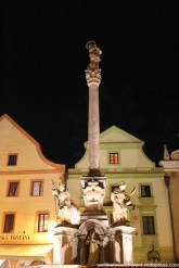 Plague column in the town square.