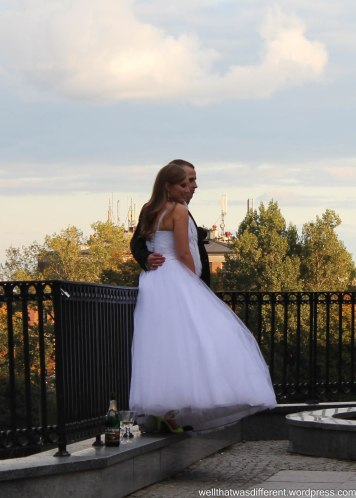 More wedding photos on the city wall.