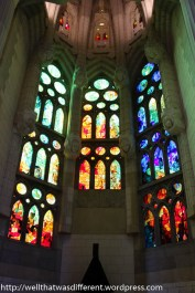 I wish I could have captured how gorgeous the stained glass is.