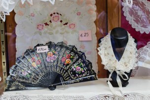 Fans, lace and cutwork are all local things