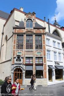 Everywhere, people are walking around eating Belgian waffles