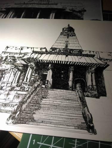 Brihadeeswarar temple wip 2