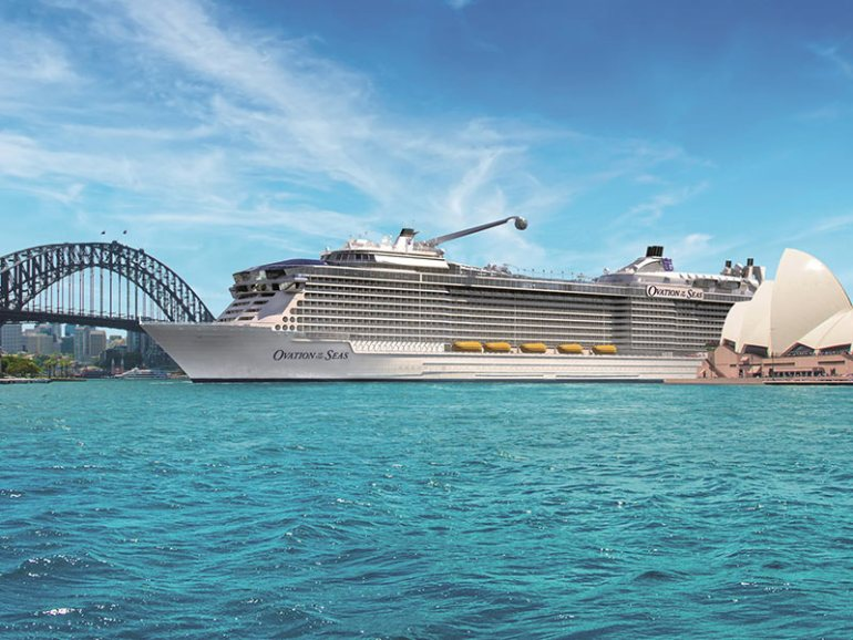 Royal Caribbean, Ovation of the Seas in Sydney Harbour