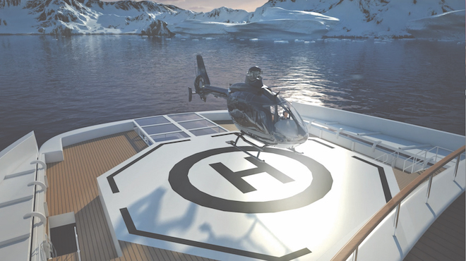 Scenic Eclipse Helicopter. Image courtesy: Scenic