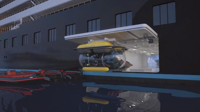 Scenic Eclipse Submarine and Zodiacs. Image courtesy: Scenic.