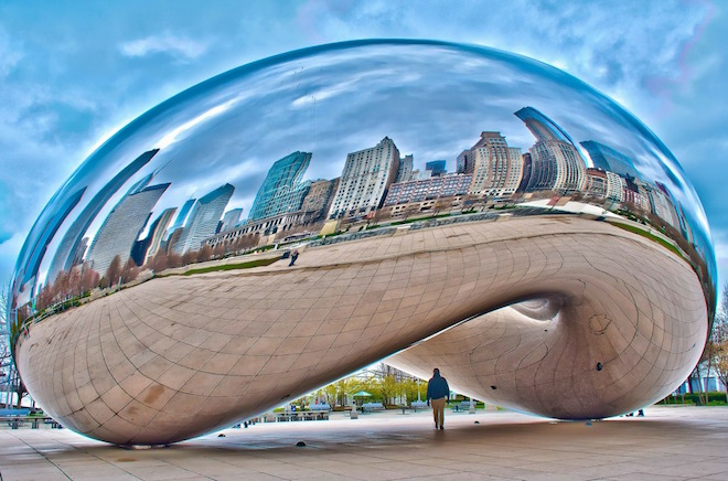 Chicago Bean in Millenial Park.