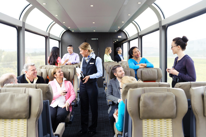 Rocky Mountaineer - SilverLeaf Service coach seating