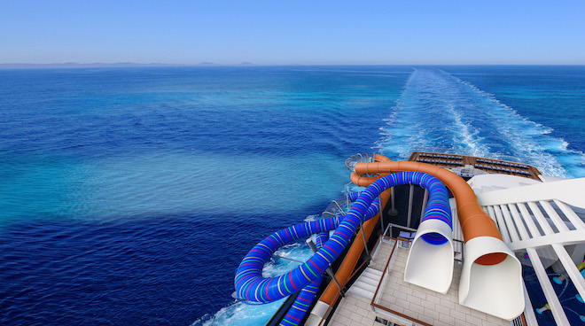 Pacific Explorer waterslide. Image courtesy P&O.